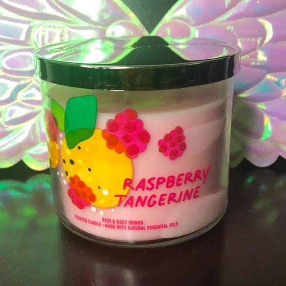 BBW 3 wick candle Raspberry Tangerine